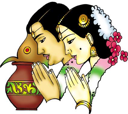 425x376 Couple clipart indian wedding