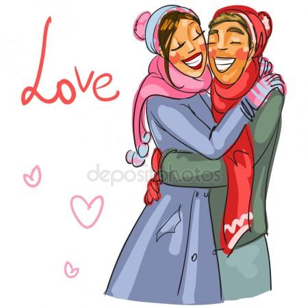 450x450 Happy Couple Honeymoon Stock Vectors, Royalty Free Happy Couple