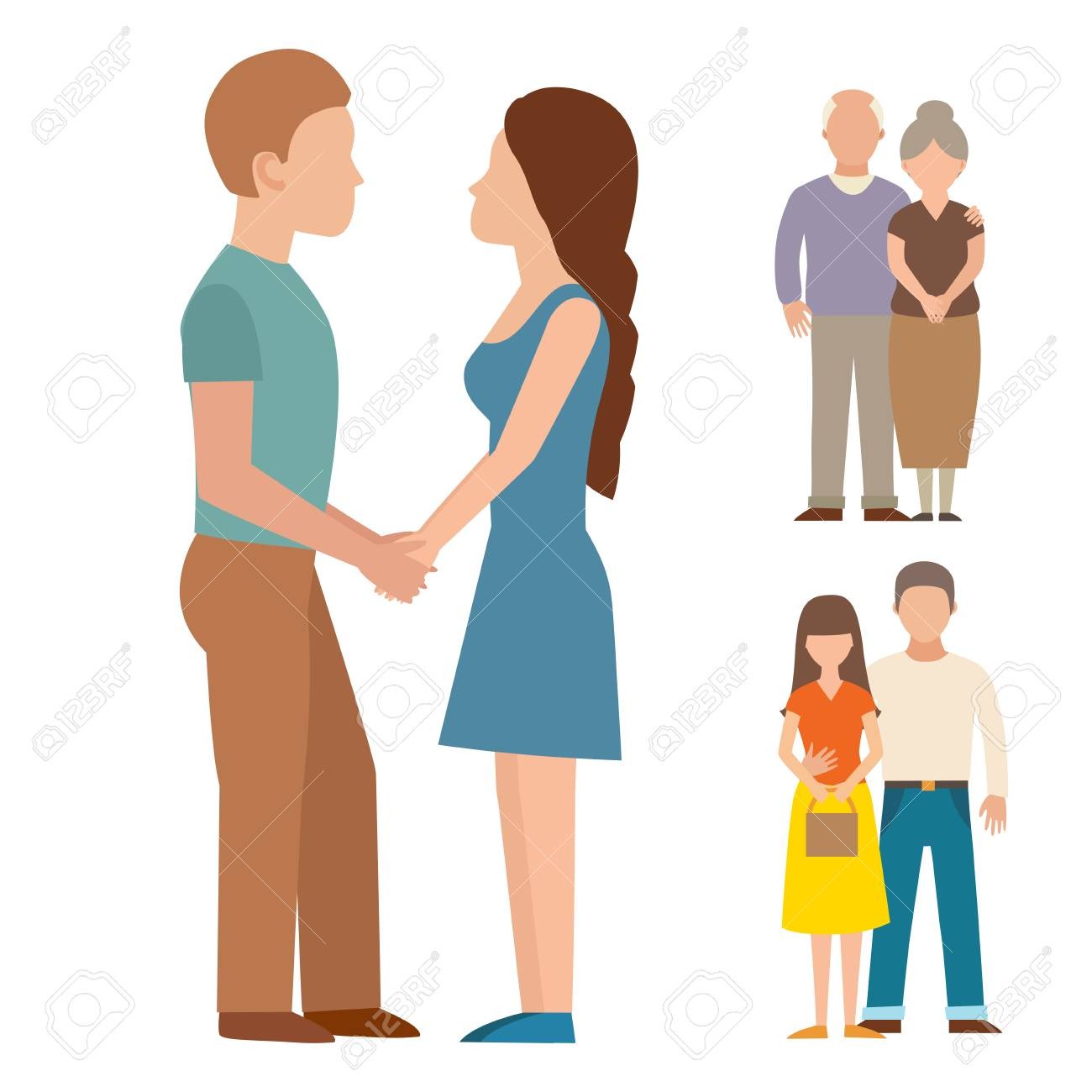 1300x1300 People Happy Couple Cartoon And Relationship Characters Lifestyle