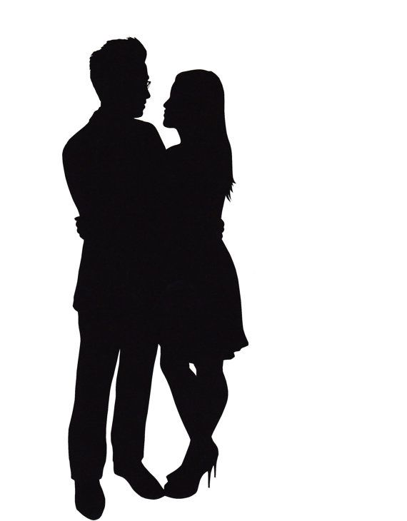 570x730 Romance Clipart Happy Couple
