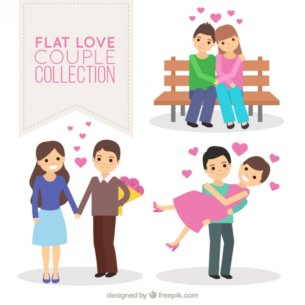 626x626 Several Happy Couples In Love Vector Free Download