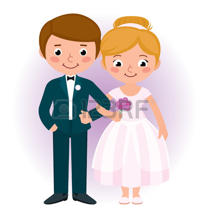 430x450 Stock Vector Cartoon Illustration Of A Loving Couple Husband