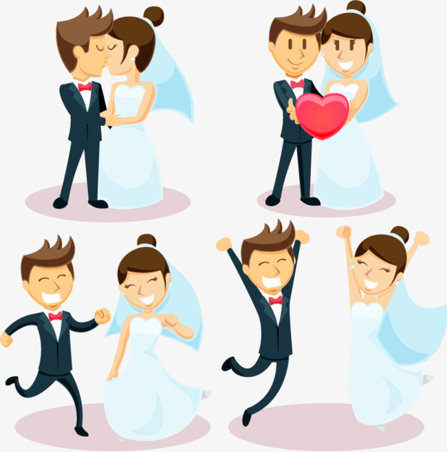 650x657 happy couple cheering, Marry, Wedding, Bride And Groom PNG and