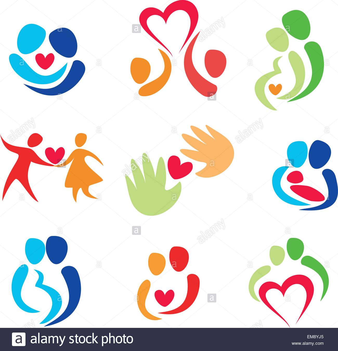 1300x1351 Love Set, Happy Couple Vector Icons Stock Vector Art