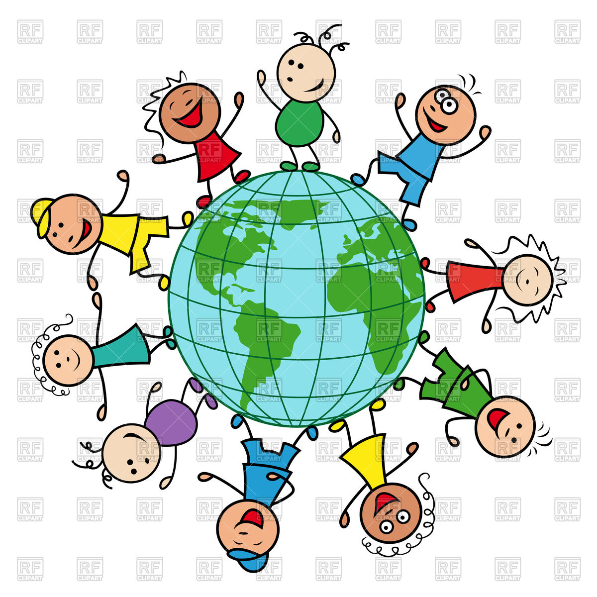 1200x1200 Happy Children Of Different Nationalities Together Around