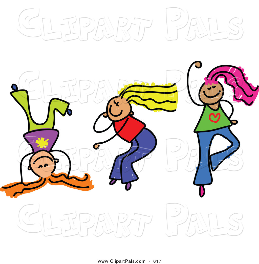 1024x1044 Pal Clipart Of A Childs Sketch Of Three Girls Playing Dance