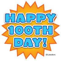 200x200 Happy 100th Day Clip Art