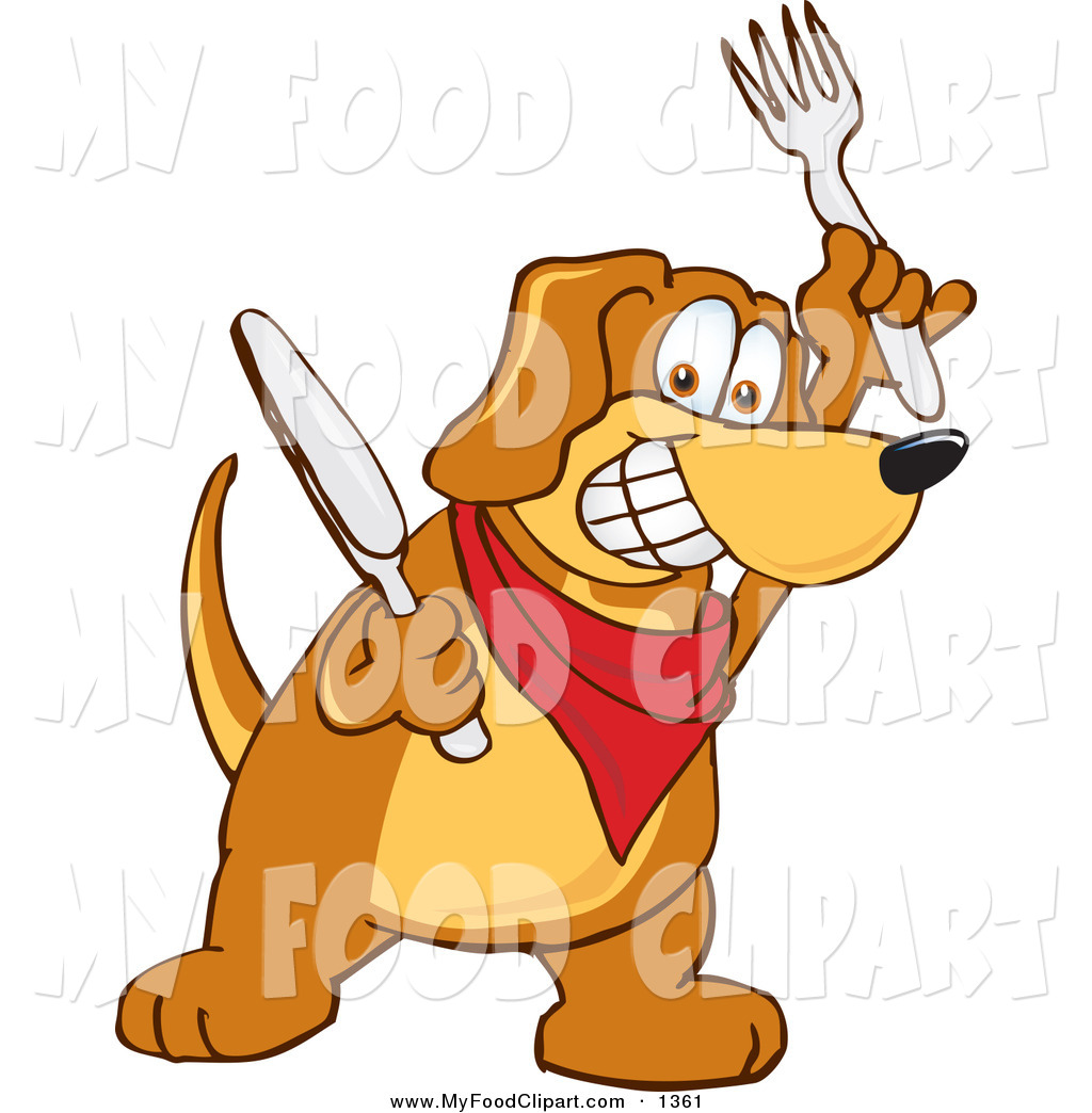 1024x1044 Food Clip Art Of A Hungry And Happy Brown Dog Mascot Cartoon