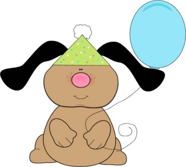 600x538 Happy Birthday Dog Clipart