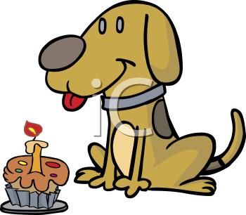350x306 Happy Birthday Dog Clipart