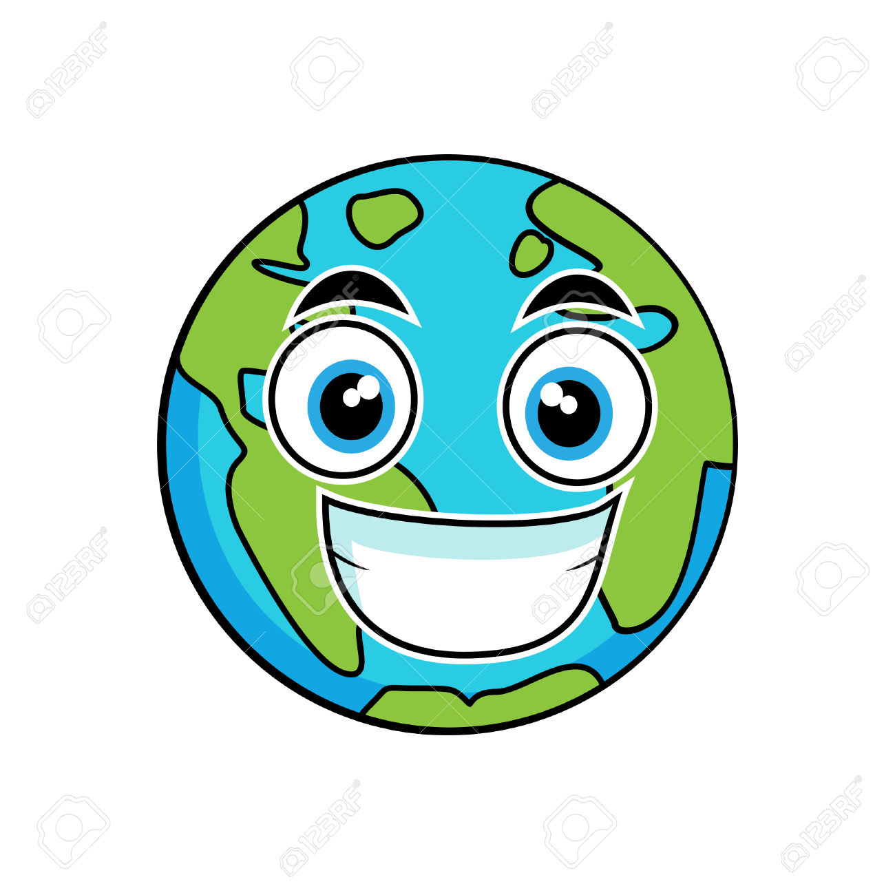 1300x1300 Earth Clipart Smile