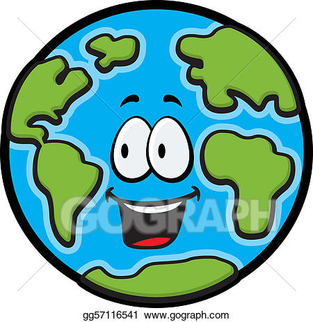 450x462 Happy Earth Clip Art