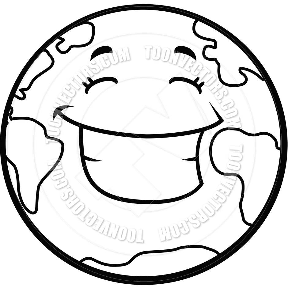 940x940 Happy Earth Clipart Black And White