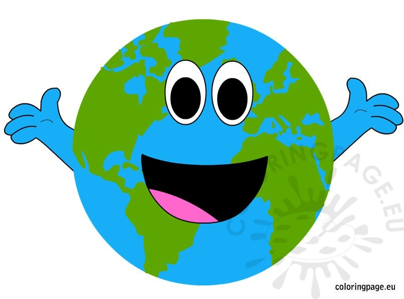 804x595 Happy Earth Day Coloring Page