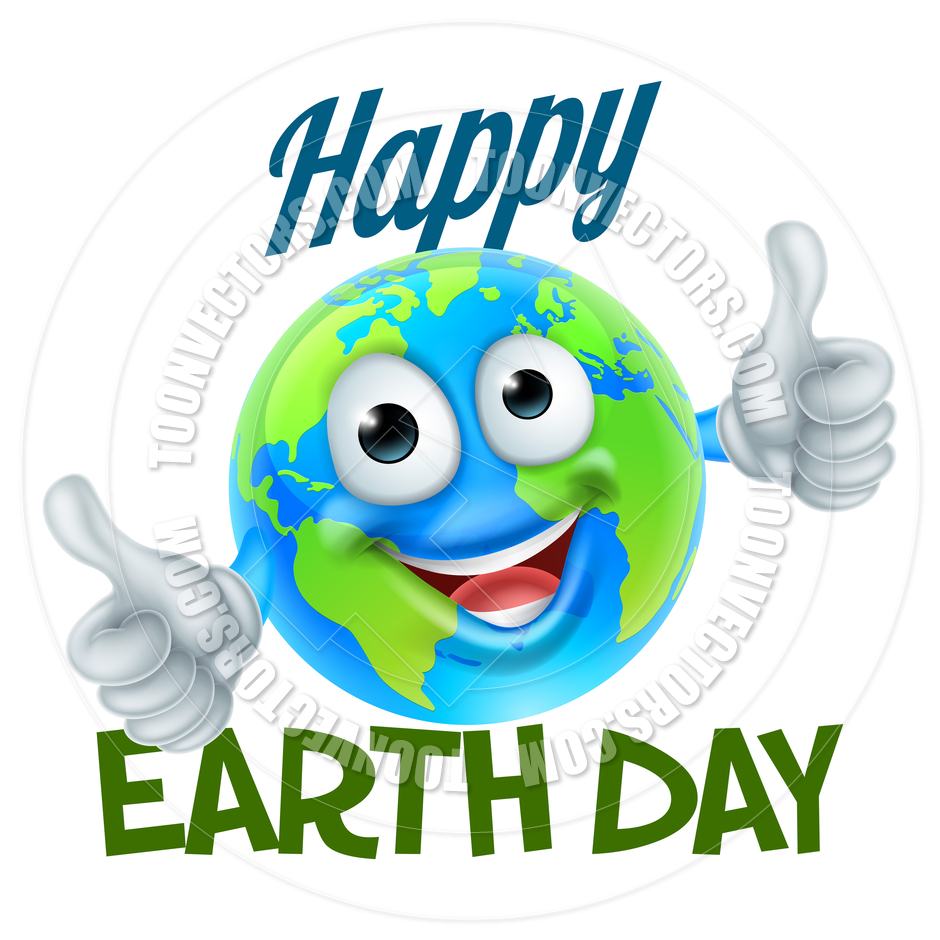 940x940 Happy Earth Day Cartoon Globe Mascot Design By Geoimages Toon