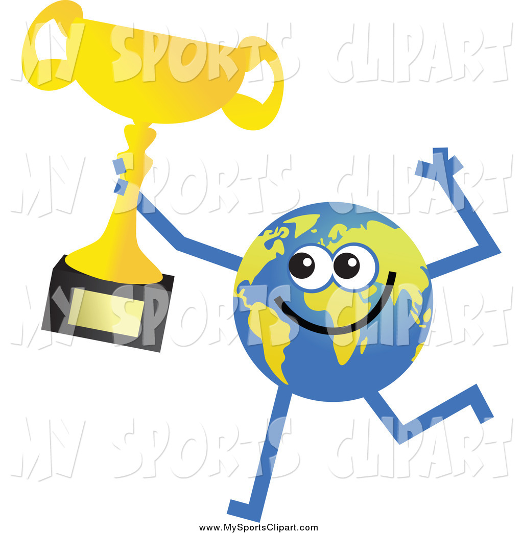 1024x1044 Sports Clip Art Of A Happy Earth Character Champion Running