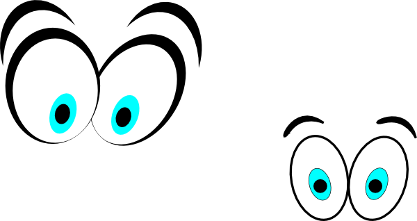 600x318 Cartoon Eyes(Straight On) Clip Art