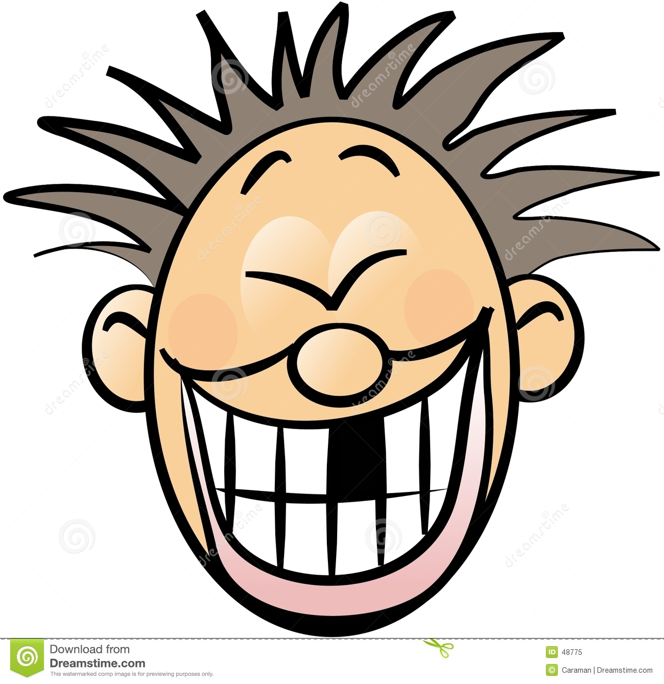 Happy Face Cartoon Clipart