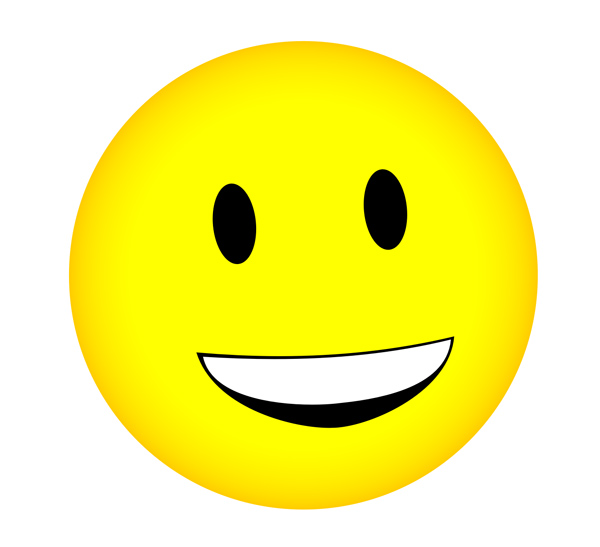 600x547 Cartoon Smiley Face Clipart