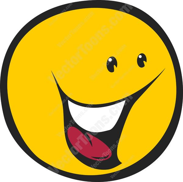 600x596 Excited Wow Smiley Face, Yellow Emoticon Looking Right Cartoon