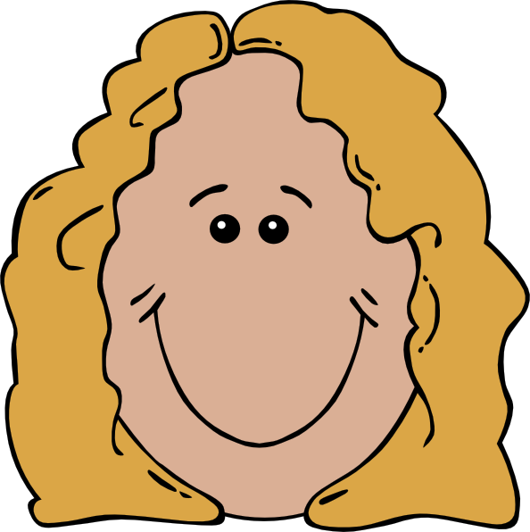 594x596 Free Girl Smiley Face Clipart Image