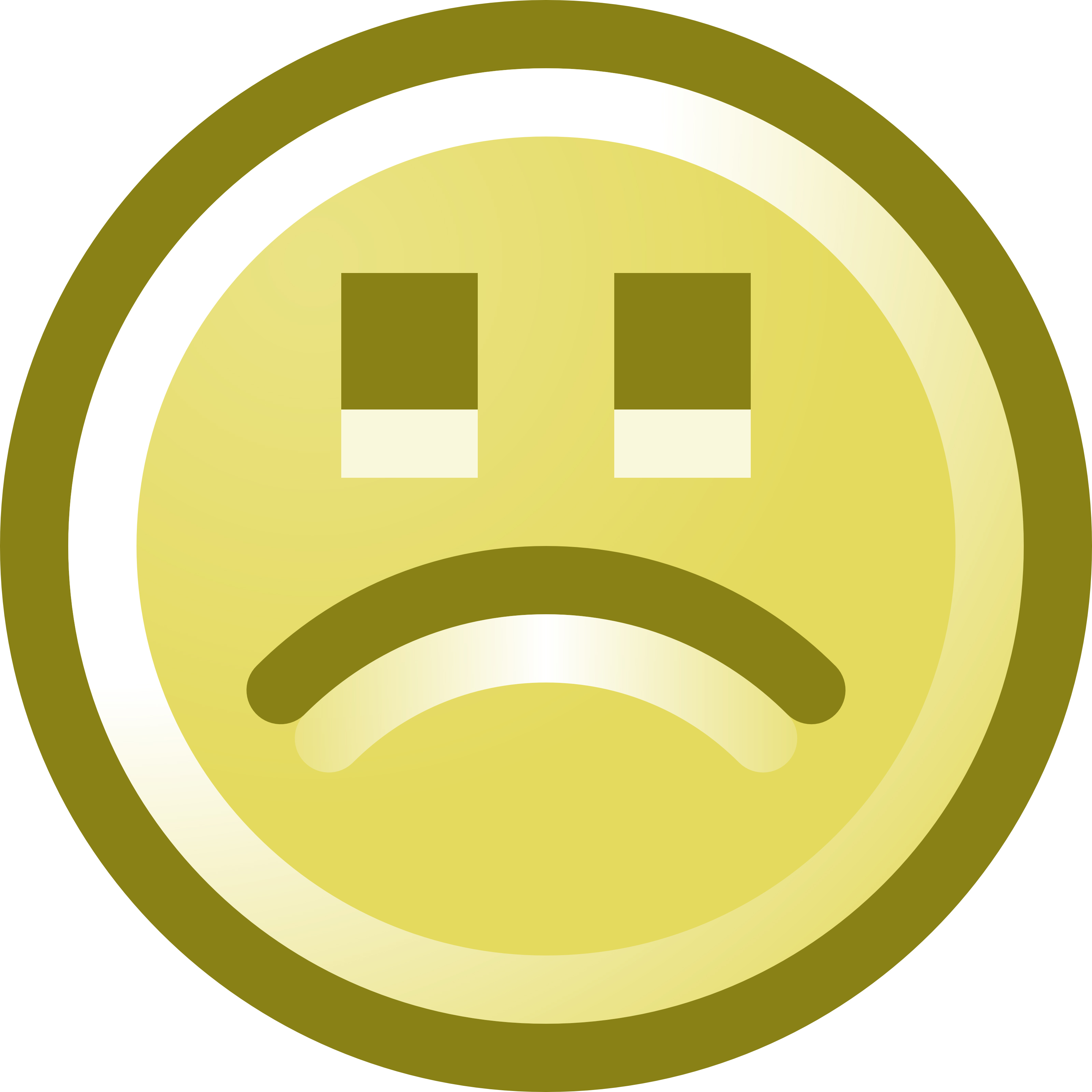 3200x3200 Frowning Smiley Face Clip Art Illustration