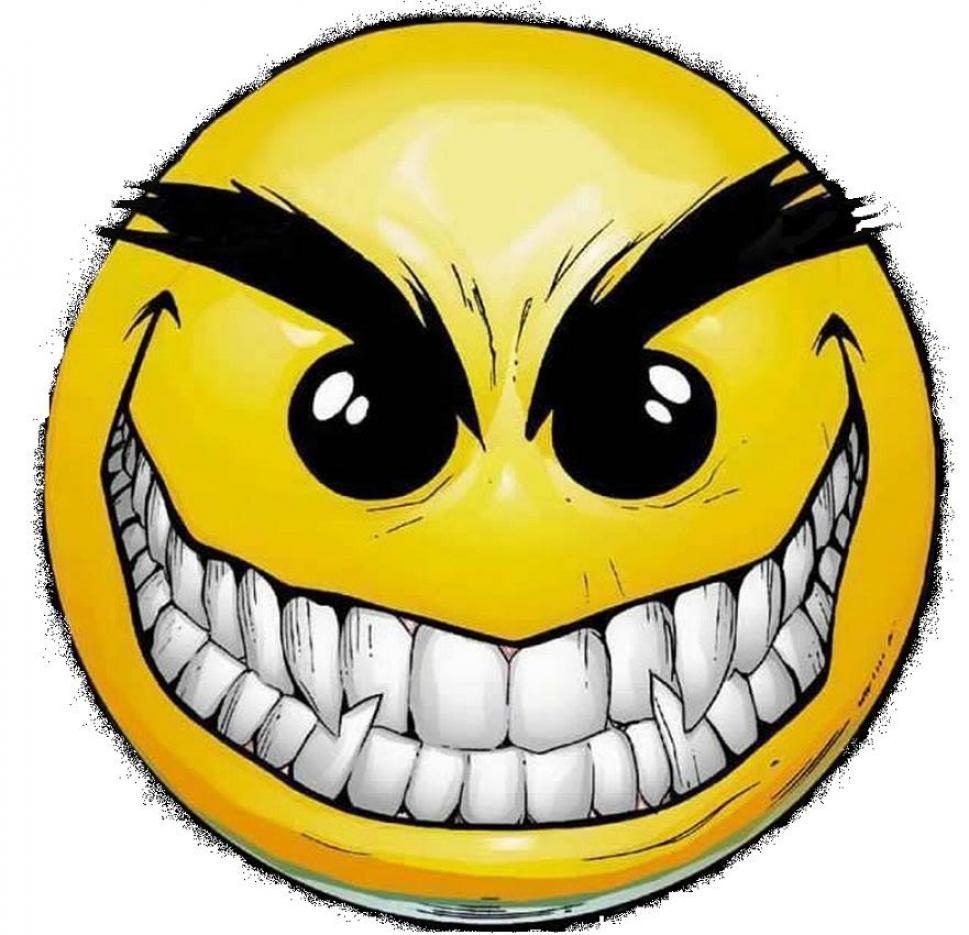 969x935 Scary Smiley Face Clipart