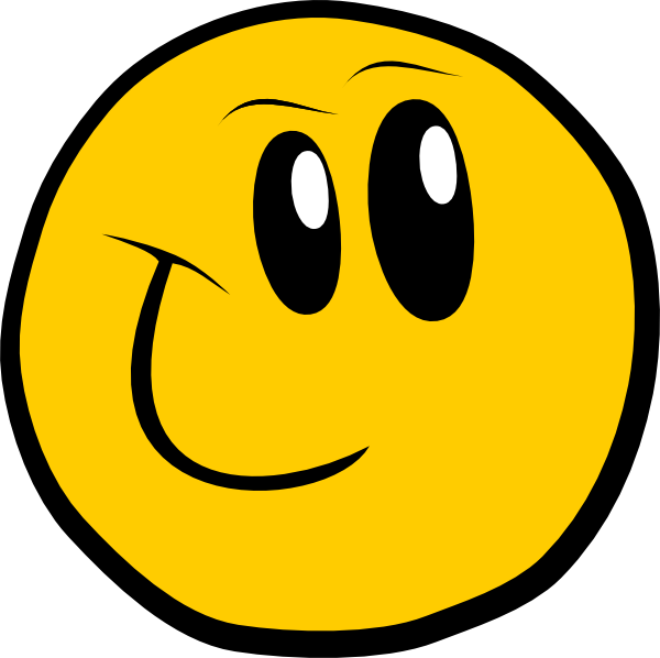 600x598 Smiley Face Clip Art