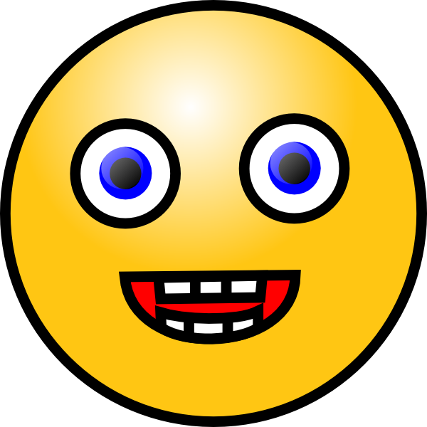 600x600 Smiley Face Clip Art Free Vector 4vector