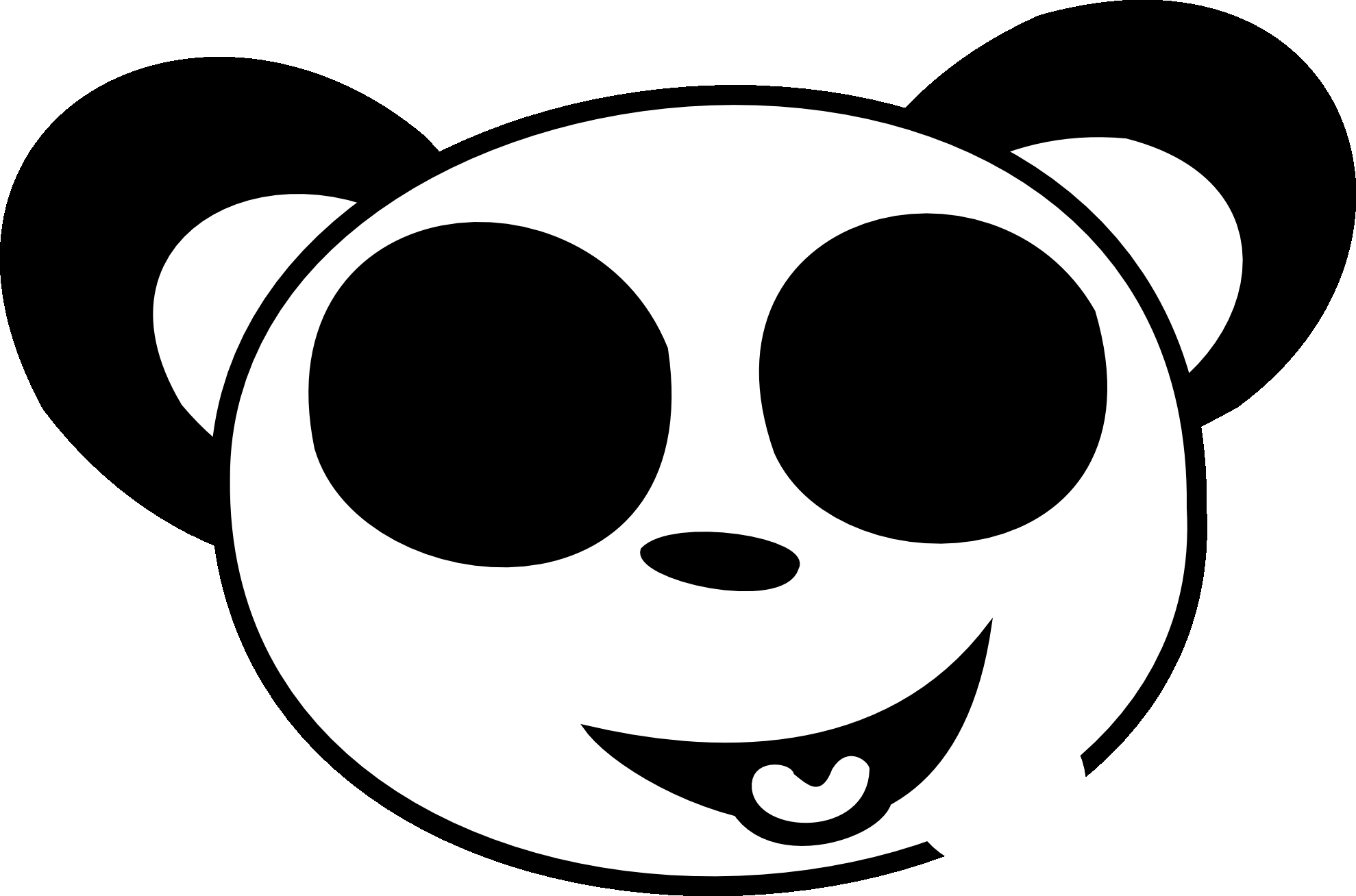 Happy Face Clipart Black And White