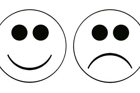 450x300 Happy Face Sad Face Clipart