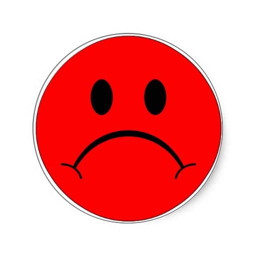 512x512 Red Sad Smiley Face Clip Art