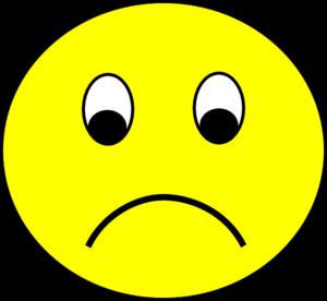 300x276 Sad Smiley Clip Art