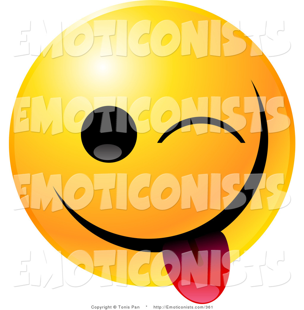1024x1044 Clip Art Of A Yellow Emoticon Smiley Face Teasing, Closing One