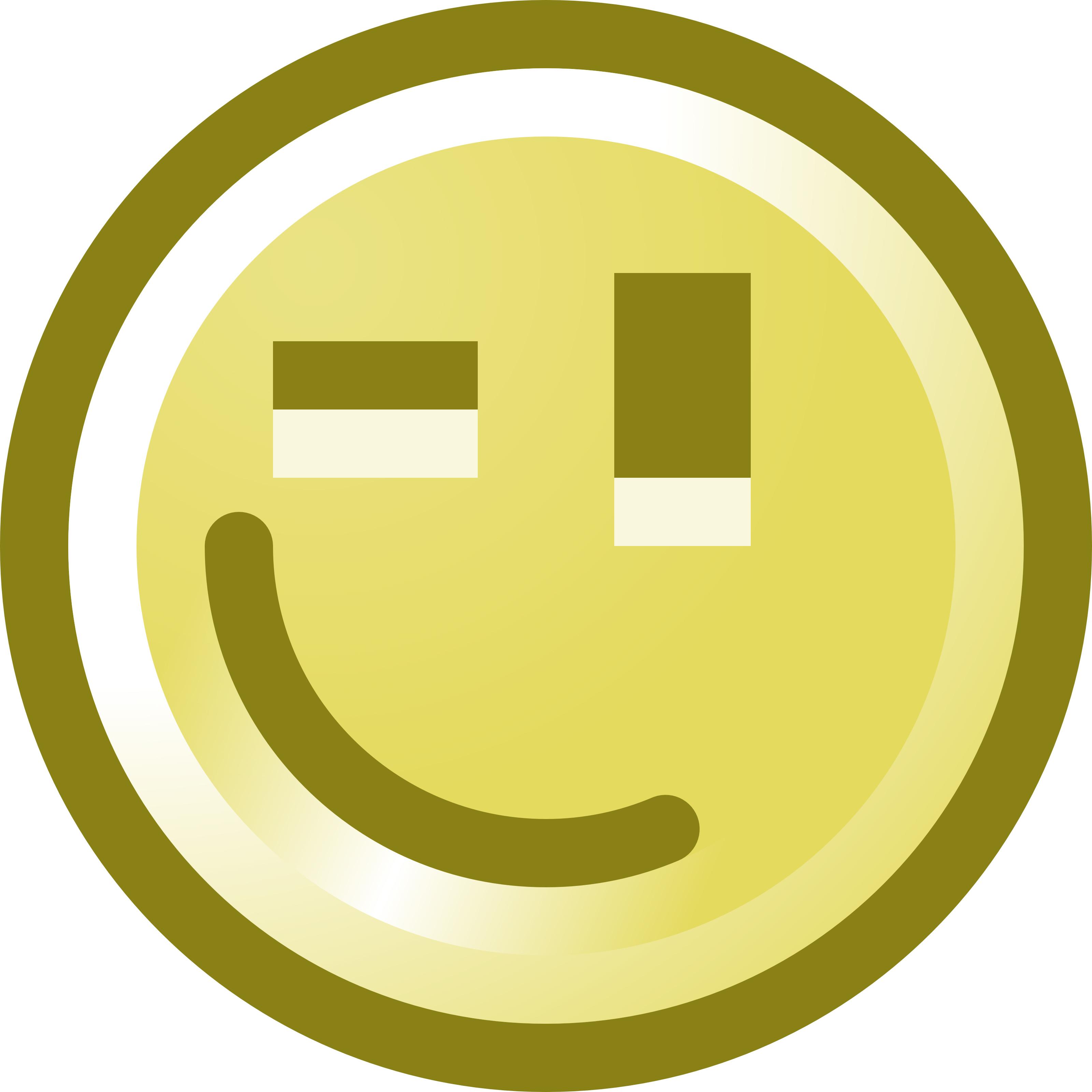 3200x3200 Winking Smiley Face Clip Art Illustration