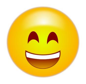 350x340 Happy Emoticon Emoji