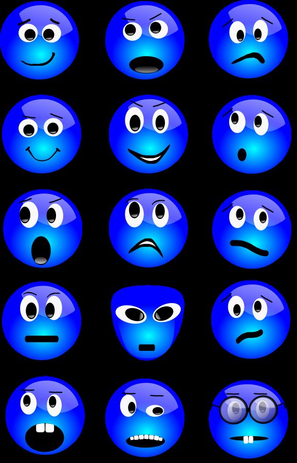 578x900 Blue Smiley Face Clip Art
