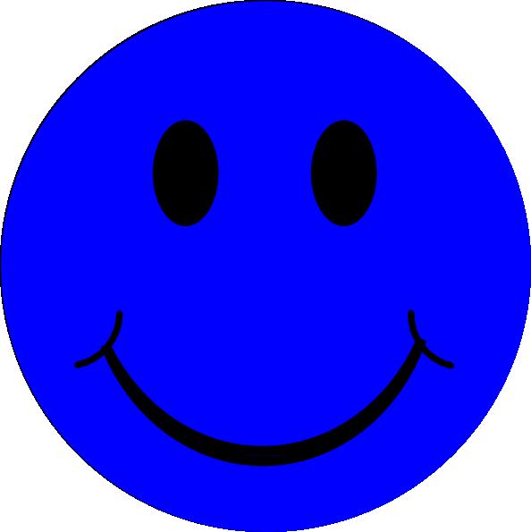 594x595 Blue Smiley Face Clip Art