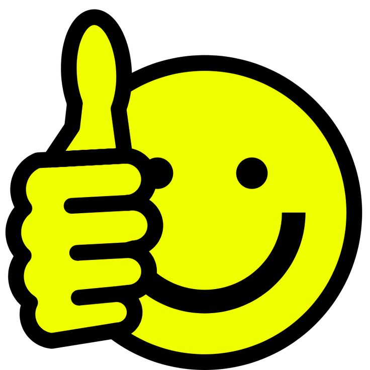 Happy Face Thumbs Up Clipart