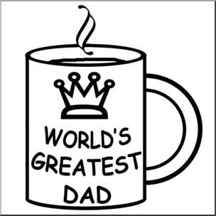 304x304 Clip Art Happy Father's Day Mug Bampw I Abcteach