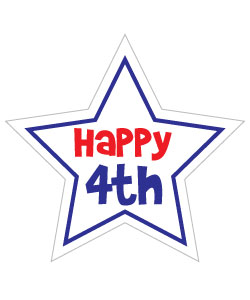 4th of july small. Happy fourth clipart free