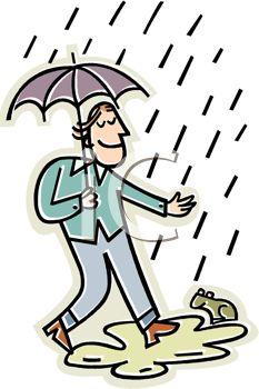 233x350 Happy Guy Walking In The Rain
