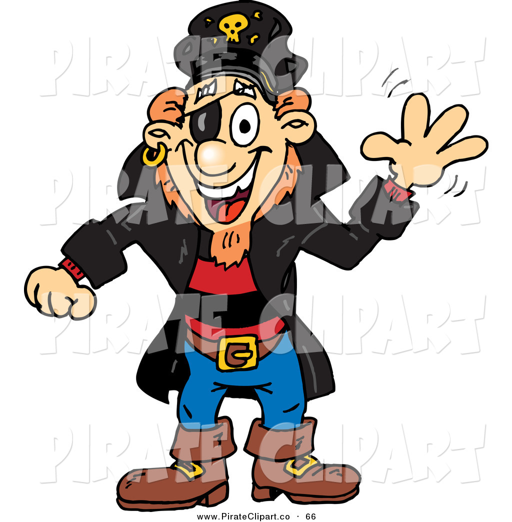 1024x1044 Vector Clip Art Of A Happy White Pirate Guy Waving By Dennis