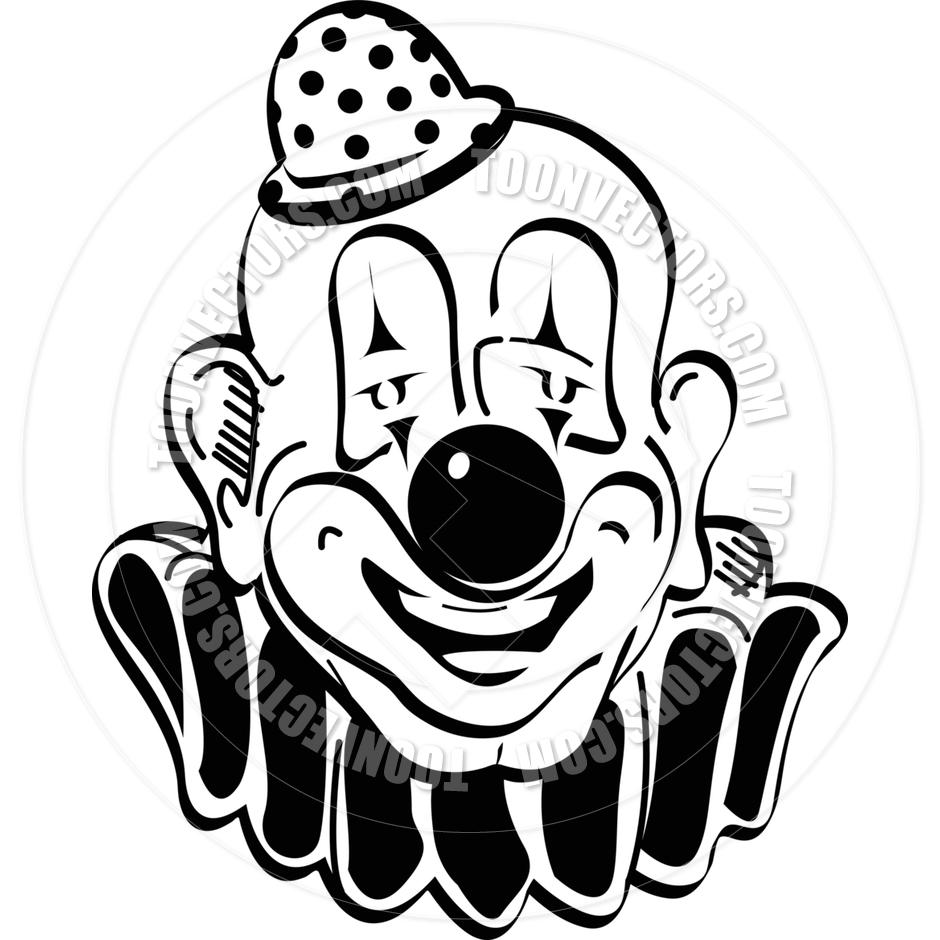 940x940 Cartoon Happy Clown Vector Illustration By Clip Art Guy Toon