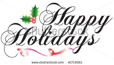 450x258 Clipart Happy Holidays