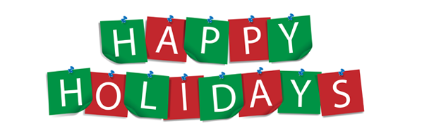 598x196 happy holidays banners clipart