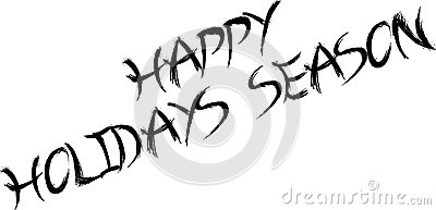 400x193 Happy Holidays Black And White Clipart
