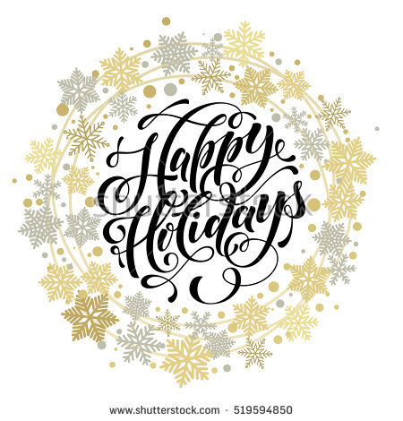 450x470 Happy Holidays Wreath Clip Art Cliparts