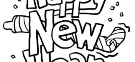 272x125 New Year Clip Art Black And White Happy Holidays! On Happy New