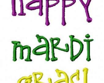 340x270 Mardi Gras Embroidery Design 5x7 6x10 Throw Me Something